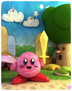 Kirby Epic Yarn Ball by Eric Beck