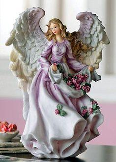 Lilac porcelain angel ෴๑ ˚̩̥̩̥✧̊́˚̩̥̩̥✧ ˚̩̥̩̥✧̥̊́͠✦̖̱̩̥̊̎̍̀✧❤ Angel Decor, Angel Art, Seraph Angel, Clay Angel, Angel Drawing, Angel Princess, I Believe In Angels, Angel Aesthetic, Angels Among Us