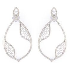 Joëlle Jewellery Diamond Teardrop Earrings (181,980 THB) ❤ liked on Polyvore featuring jewelry, earrings, metallic, post earrings, pave fine jewelry, pave jewelry, tear drop earrings and teardrop earrings