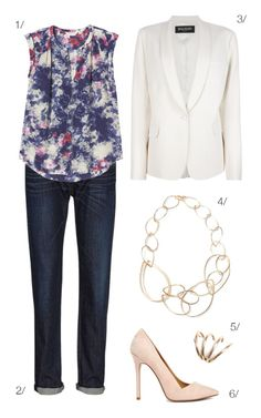 an outfit to go from daytime to date night // dark denim, white blazer, chain link necklace // click for outfit details
