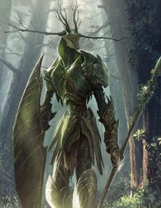 Guardians Of The Forest ~ Artist: Concept Art House - Title: Unknown - Card: Grove Disciple Green Gully Dark Fantasy Art, Fantasy Artwork, Mythical Creatures Art, Forest Creatures, Fantasy Monster, Monster Art, Creature Concept Art, Creature Design, Fantasy Character Design