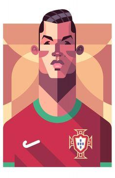 Caricatura de Cristiano Ronaldo, o craque português NAS Copas de 2006 e 2010, POR Daniel Nyari Daniel Nyari.