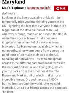 Best beer bar in MD