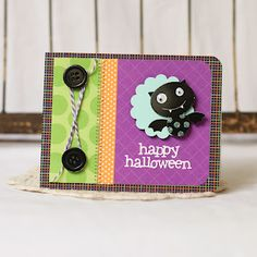 #papercraft #Halloween #card Check out PaperCraftersCorner.com for lots of scary-good Halloween papercraft ideas and giveaways!
