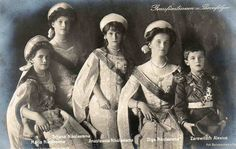 Children of Tzar Nikolai II. of Russia