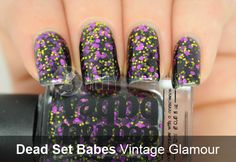 Dead Set Babes - Vintage Glamour, Emerald City & Whatshername ~ Pretty Purple Polish