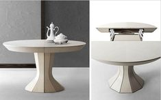 Opera- a Round Expandable Modern Dining Table by Bauline