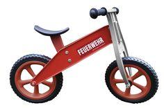 Redtoys,stabiles Kindergarten-Laufrad, Chopper Feuerwehr, leicht, 2,9 kg Gesamtgewicht, wetterfest, 2-5 J | TO30FD.1