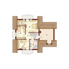 Description House with attic, intended for family.On the ground floor there is a spacious living room open to the. 2bhk House Plan, 20 M2, Modern Bungalow House, Loft Room, Spacious Living Room, Ground Floor, Concrete, Floor Plans, House Design