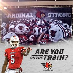 Are you on the train? Check out the new ramp banner on the East side of Papa John's Cardinal Stadium. #getonthetrain #L1C4