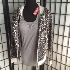 NWT XS GREY TANK/elastic neck/arms Night on POSHMARK  was mis lead as to the sizing..it is a true XS WITH A LITTLE STRETCH Tops Tank Tops
