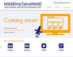 """Check out new work on my @Behance portfolio: """"""""Coming soon"""" page for my personal website."""" http://on.be.net/1IqY5HN"""