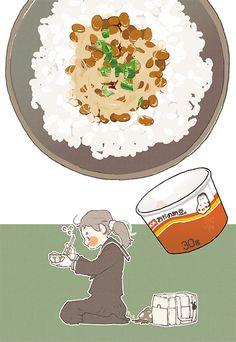 Natto rice ~ Web-tana