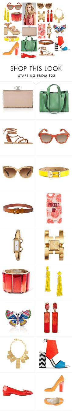 """Прямоугольные линии"" by evgenya793 ❤ liked on Polyvore featuring Judith Leiber, Corto Moltedo, Valia Gabriel, Givenchy, Coach, Dolce&Gabbana, Kate Spade, Gucci, Tory Burch and Oscar de la Renta"