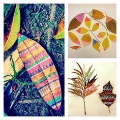Decorar con hojas secas una idea sencilla Pinterest