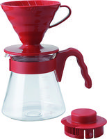 Hario V60 Coffee Server Set 02 - Red 700ml