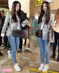 Blackpink Fashion, Work Fashion, Fashion Pants, Fashion Outfits, Red Velvet アイリーン, Red Velvet Irene, Blazer Outfits, Kpop Outfits, Airport Fashion Kpop