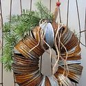 Wreath made out of mason jar rings