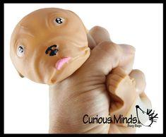 Puffer Bull Dog - Air-Filled Soft Squeeze Ball - Sensory Fidget Toy | Curious Minds Busy Bags Self Regulation, Bull Dog, Fidget Toys, Busy Bags, Sensory Toys, Fine Motor, Piggy Bank, Bubbles, Texture