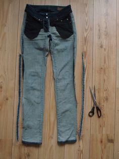 Heeeeute nur ganz fix, wie man eine ausgeleierte Hose wieder enger machen kann...      Meine Hose stammt aus der Zeit, in der ich nicht wuss...