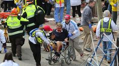 A person who was injured in an explosion near the finish line of the Boston Marathon is taken away from the scene in a wheelchair on Monday, April 15. a href=http://www.cnn.com/2013/04/15/us/boston-marathon-explosions/index.htmlRead our developing news story/a and follow up-to-the-minute reports a href=http://news.blogs.cnn.com/2013/04/15/explosions-near-finish-of-boston-marathon/on CNN.coms Just In blog/a.
