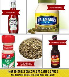 Raising Canes Sauce Recipe!