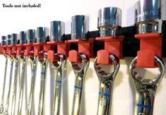 Garage Workshop Organization, Garage Tool Storage, Workshop Storage, Garage Tools, Cool Tools, Diy Tools, Garage Atelier, Socket Organizer, Tool Room
