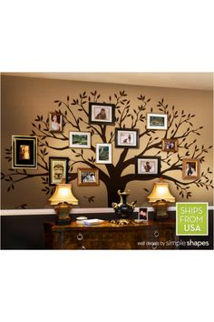 Family Tree wall decal. Great idea for a large entry way!