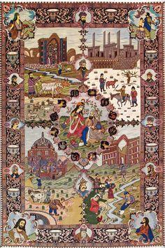 Ancient Persia Silk Persian Rug - Item# Custom order
