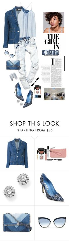 """All Denim, Head to Toe"" by shortyluv718 ❤ liked on Polyvore featuring Dsquared2, Bobbi Brown Cosmetics, COS, Roberto Coin, Manolo Blahnik, STELLA McCARTNEY, Karl Lagerfeld, INC International Concepts and alldenim"