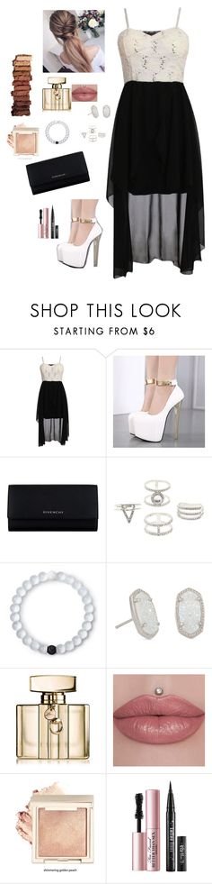 """""""End of Summer Party 🎉"""" by cutegoth ❤ liked on Polyvore featuring Pilot, Givenchy, Charlotte Russe, Lokai, Kendra Scott, Gucci, Too Faced Cosmetics and Urban Decay"""