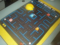 simply cake hawaii: pac man cake for a 30th birthday