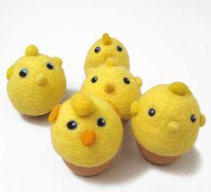 Egg warmer- felted -egg cozy- felt Easter - Spring. , via Etsy.