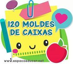 120 moldes de caixas para imprimir lembrancinhas! - ESPAÇO EDUCAR Diy And Crafts, Crafts For Kids, Paper Crafts, Cardboard Box Diy, E Craft, Paper Pop, Cute Wallets, Free To Use Images, Diy Notebook