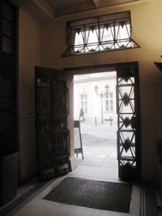 Gate, House of the Black Madonna, Cubism Museum, Prague, 2011