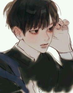 Boy Art, Art Girl, Pretty Art, Cute Art, Drawn Art, Korean Art, Korean Anime, Estilo Anime, Cute Anime Boy