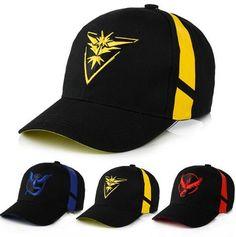 Snack cap Wholesale Pokemon Hat Team Valor Team Mystic Team Instinct   baseball ddc3e98b8393