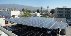 Carlstart's 84.5-kilowatt solar array at its headquarters in Pasadena, CA