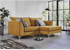 A well-designed, British-made, fabric reversible chaise end sofa, exclusively available at Furniture Village. Furniture Village, Sofa Furniture, Divan Sets, Contemporary Fabric, Chaise Sofa, Cool Apartments, Table And Chair Sets, Sit Back And Relax, Home Interior Design