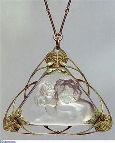 Art Nouveau Lalique Pendant http://Gemlab.co.in
