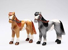 CG 20701 Black and Brown Stallions Salt and Pepper Shakers ** Find out more details by clicking the image : Salt Pepper Shaker