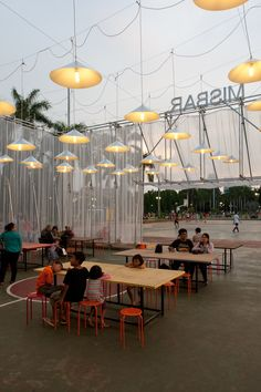 Built by Csutoras & Liando in Jakarta, Indonesia with date 2013. Images by Laszlo Csutoras. Kineforum Misbar was a temporary open-airw cinema built as part of the 2013 Jakarta Biennale, an international contem...