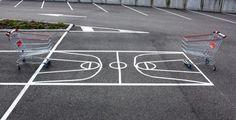 Sports Fields in a Parking Lot by Florian Rivière