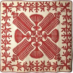 Queen Kapi'olani's Fan quilt from Hawaii, made in the 20th century