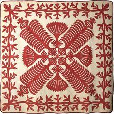 Queen Kapi'olani's Fan Quilt, early twentieth century, Hawaii