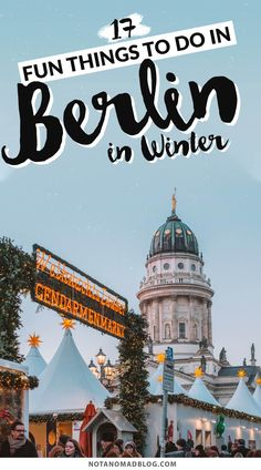 Because it's the off season for tourism in Germany, Berlin in Winter is a side of the city that few visitors actually get to see. Here are the best things to do in Berlin in Winter, how to get around, and tips for Berlin's winter weather! Best Places In Europe, Best Cities, Places To Travel, Berlin Winter, Germany In Winter, Europe Destinations, Europe Travel Tips, Holiday Destinations, Italy Travel