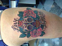 sugar skull tattoo. Just the skull