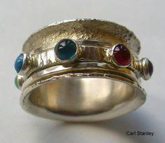Carl Stanley spinner ring with stones