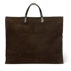 CLARE VIVIER Suede Tote W/ Optional Strap ($315) ❤ liked on Polyvore