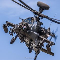 The AAC Apache display team practicing on the Saturday at RAF Cosford